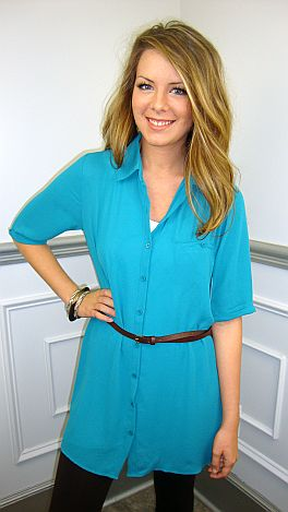 The Amy Tunic, Turquoise
