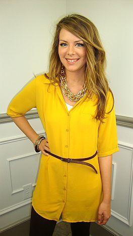 The Amy Tunic, Mustard