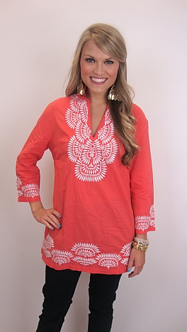Coral Berry Tunic