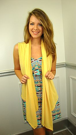 Layer Me Up Vest, Yellow