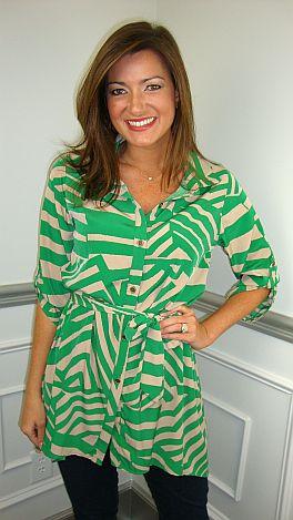 Trixie Tunic, Green