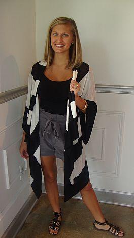 Wide Stripe Cardigan