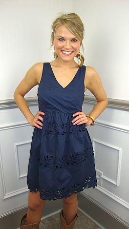 A+ A-line Dress, Navy