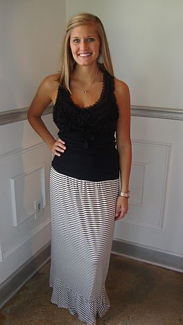 Piano Man Maxi Skirt