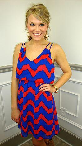 Rhythm Of My Heart Dress, Blue