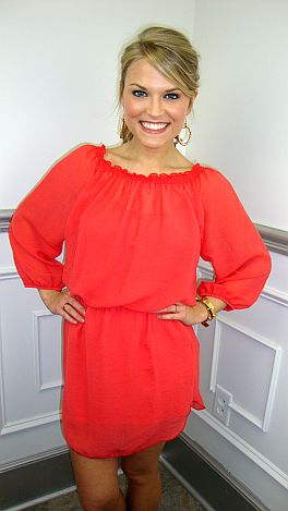 The Leslie Dress, Coral