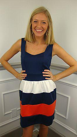 Scuba Stripes Dress