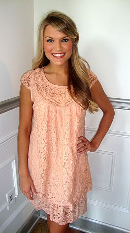 Sweet Georgia Peach Lace Dress