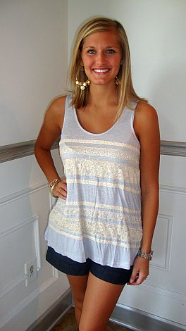 Lacey Stripes Tank