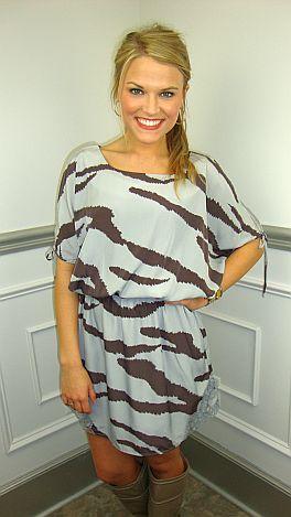 Zesty Zebra Dress