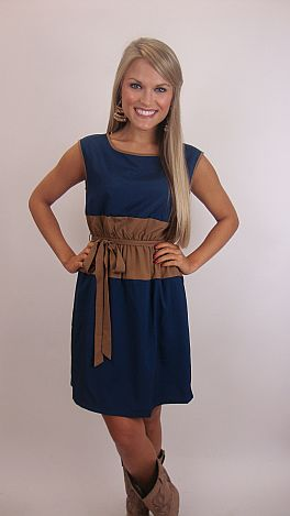 Middle of Nowhere Dress, Blue