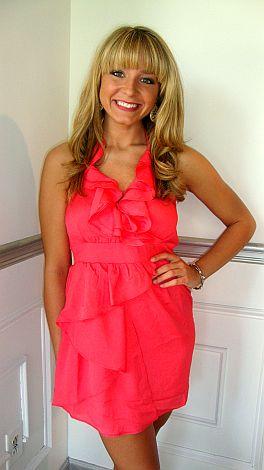 Coral Me Crazy Dress
