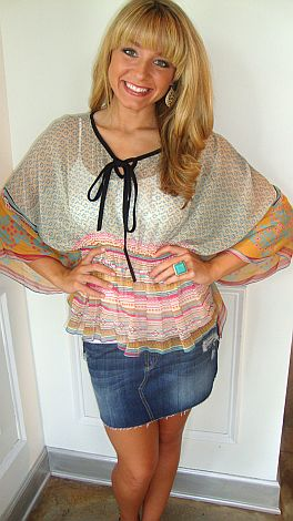 Ethnic Batwing Top
