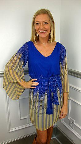 Copy Cat Dress, Blue