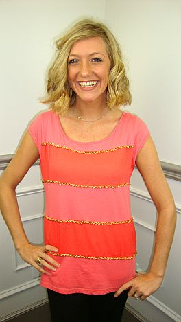 Chain Gang Top, Coral