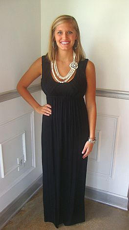 Basket Weave Scoop Maxi