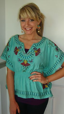 Woodstock Embroidery Top