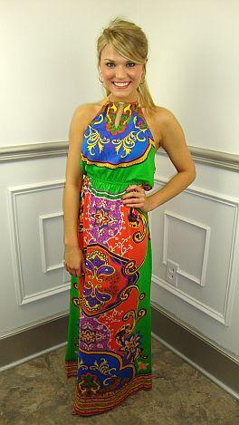 Haute Halter Dress, Green