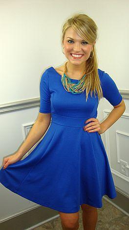 Ponte Princess Dress, Blue
