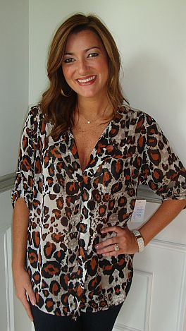City Chic Leopard Top