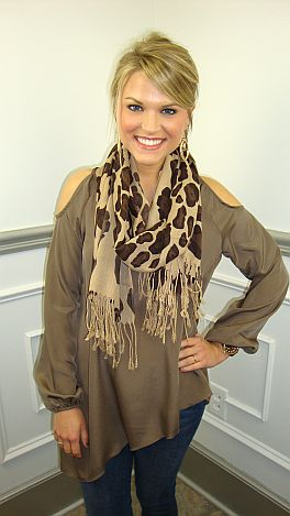 One Fine Day Top, Brown