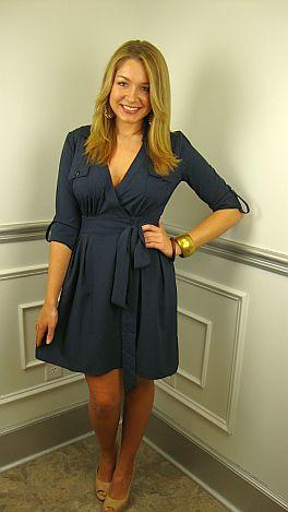 Wrap-sody Blues Dress