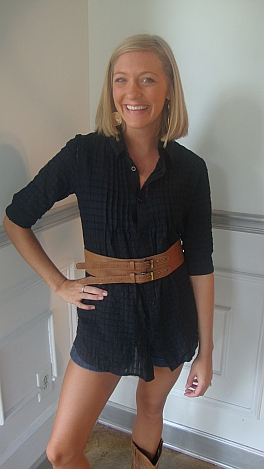 Waffle Weave Belted Tunic