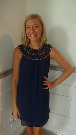 No Necklace Needed Navy Dress