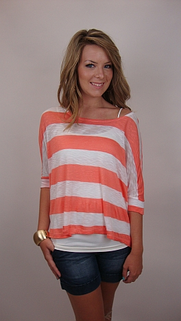 Deep and Wide Tee, Coral