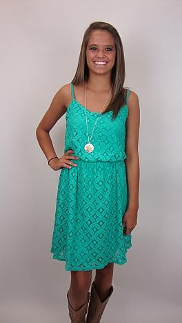 She Daisy Dress, Jade