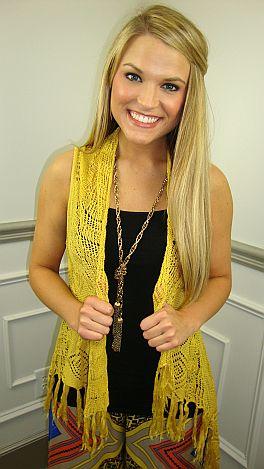 Trend-Setter Vest, Yellow
