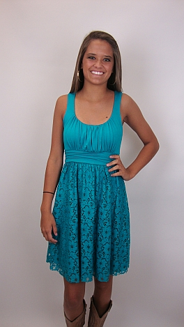 Without a Lace Dress, Turquoise