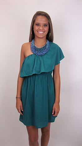 Mix and Mingle Dress, Emerald