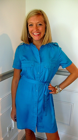 Electric Blue Shirt-dress