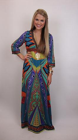 Wow The World Kimono Dress