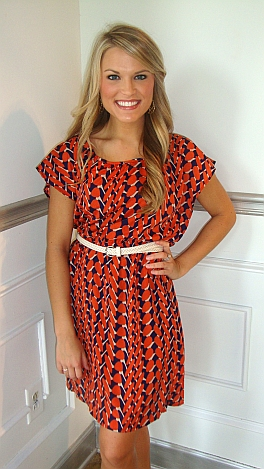 Tiger Pride Short Sleeve Dress