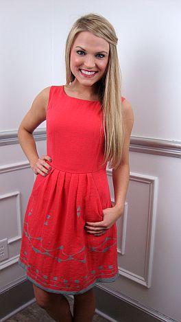 Pick Pocket Dress, Cherry