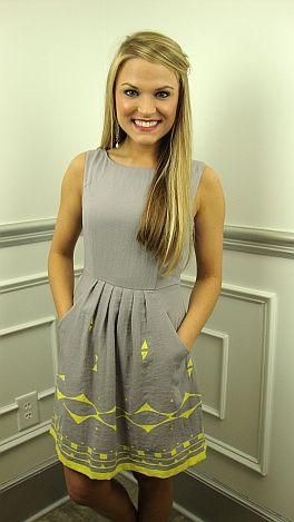 Pick Pocket Dress, Gray