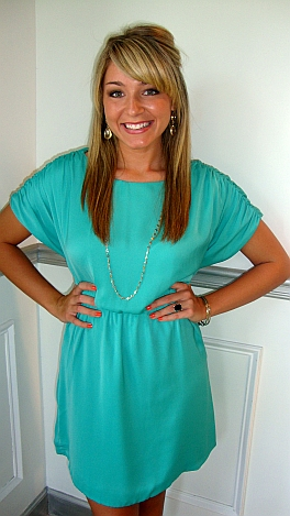 Overjoyed Dress Turquoise