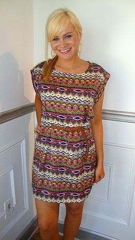 Belted Pyramids Dress