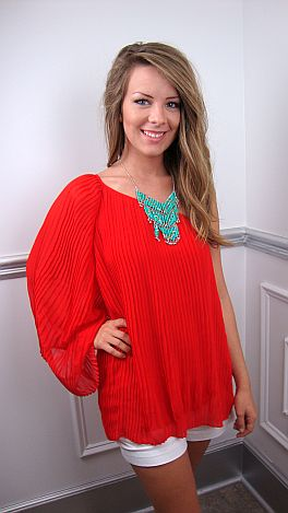 Com-pleatly Yours Tunic, Red