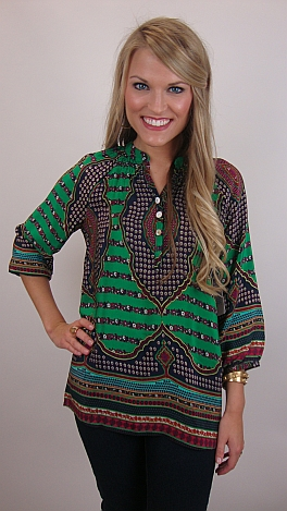 Go-to Silk Blouse, Green