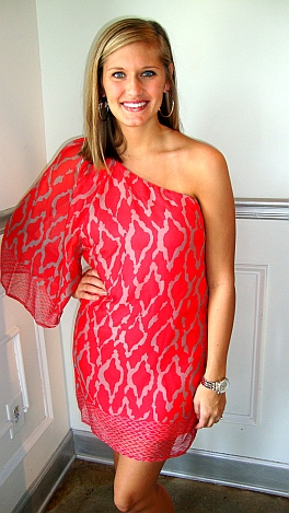 Dazzle Me Dress, Red