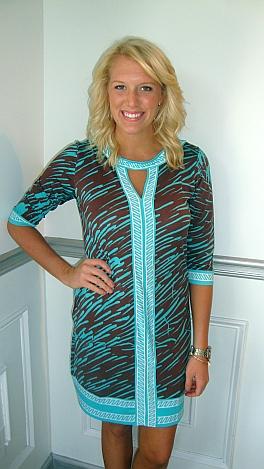 World Traveler Dress Aqua