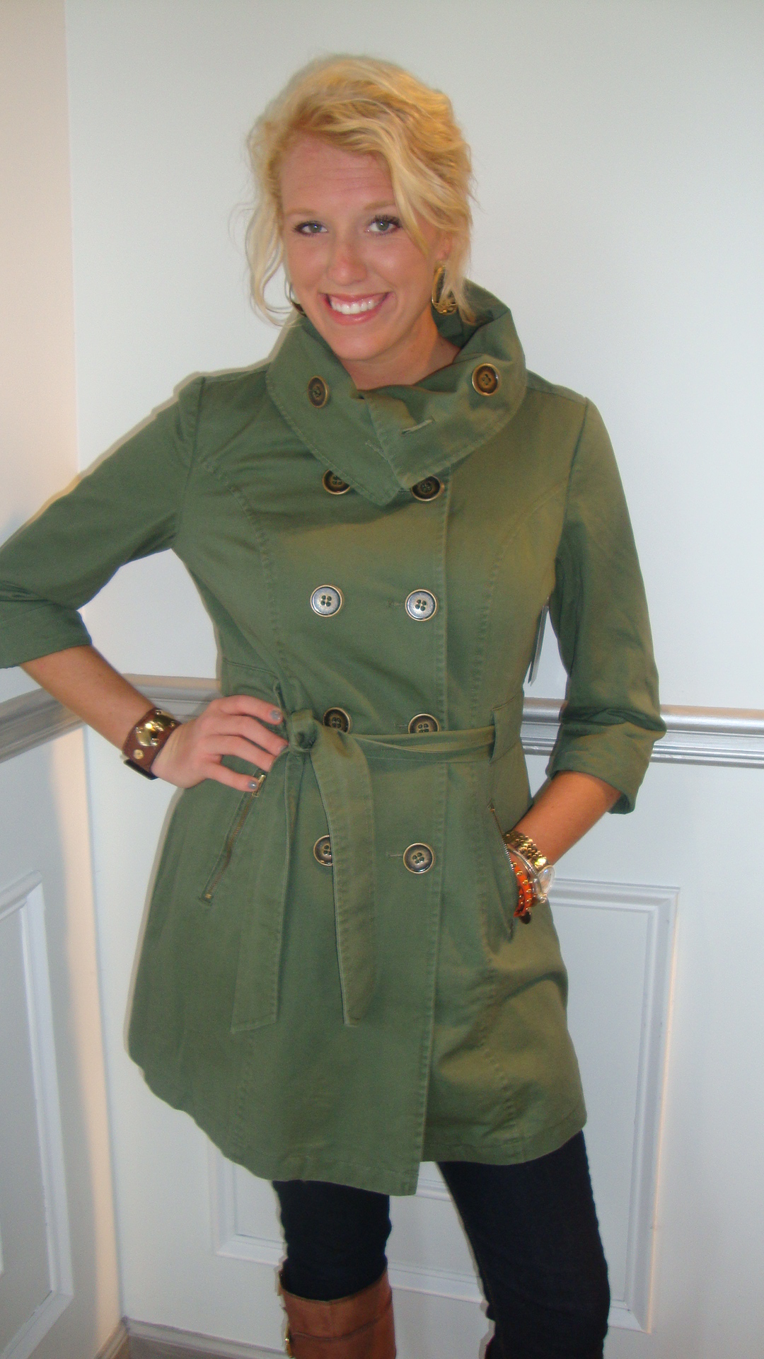 Moss Roll Neck Trench