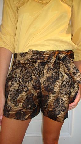 Golden Lace Shorts