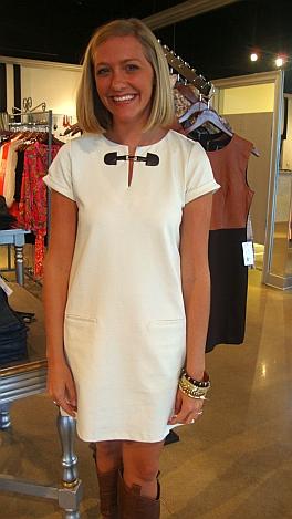 Ivory Toggle Ponte Dress