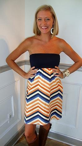 Judith March Ziggy Zaggy Tube Dress