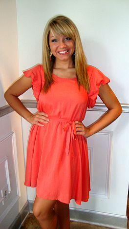 Gracie Grapefruit Dress