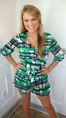 Evergreen Romper
